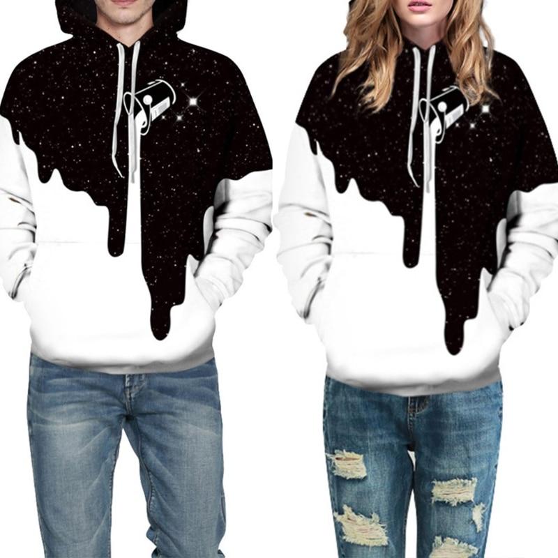 New Hot fashion men / women Sweatshirt pullover 3D printing spilled milk space Galaxy hoodies fine Unisex Hoodie hooded tops