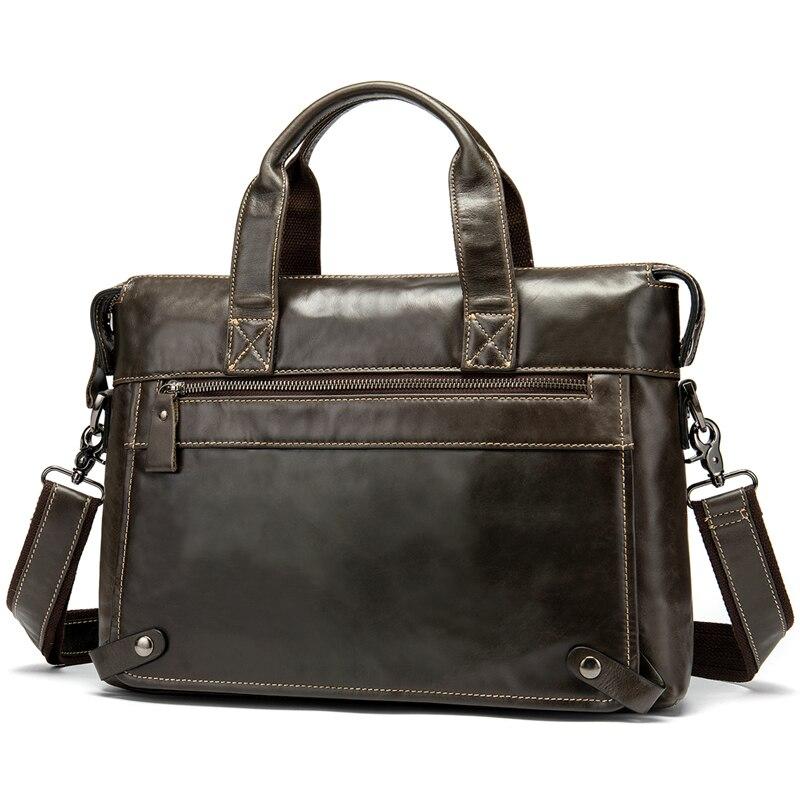 Messenger Bag Men s Genuine Leather Laptop Bags Messenger Shoulder Bags for Men Luxury Male Briefcase