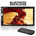 F6063B 7 дюймов HD Сенсорный Экран Двойной 2-дин В Тире FM Радио Приемник Bluetooth DVD CD-Плеер с Беспроводной Пульт Дистанционного Управления