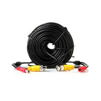 30M 20M 10M CCTV Video Power BNC Cable DVR Wire Cord DC Plug Power Extension Cable