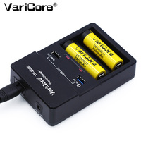 Varicore TR 2000 charger and quick charge 3.0 for 18650 26650 aa AAA batteries and QC 3.0 / USB 5 V mobile devices.