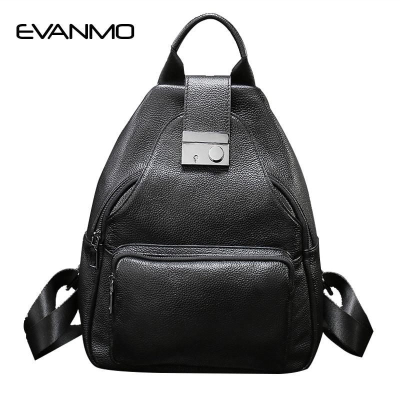 New Arrival Fashion Women Backpack Youth Genuine Leather Backpacks for Teenage Girls Female School Shoulder Bag Bagpack Mochila
