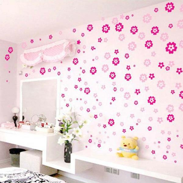 diy wall sticker small flower style removable stickers romantic home