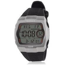 Chronograaf Sport Horloges Mannen Countdown Led Digitale Horloge Militaire 100M Waterdichte Horloges Wekker Mannelijke Cj