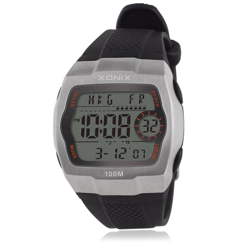 Chronograph Sports Watches Men Countdown LED Digital Watch Military 100M Waterproof Wristwatches Alarm Clock Male CJ multifunctional men sports watch 30m waterproof luminous digital sports wristwatches alarm clock