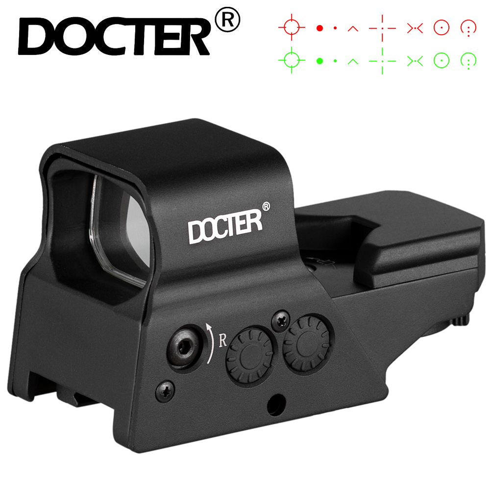 Tactical 8 Reticle Rechargeable Red Dot Sight 20mm Rail Glock Pistol Hunting Riflescope Fit For .223 AR15 7.62 AK47 12ga