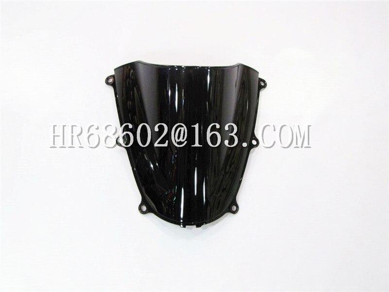 HotSale For Honda CBR 600 F5 2005 2006 Cbr 600 F5 05 06 Black Windshield WindScreen Double Bubble CBR600 Cbr600 Rr RR CBR600RR