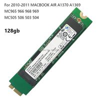 Genuine Laptop SSD For Apple Macbook Air 11 13 A1370 A1369 SSD Solid State Drive 128GB