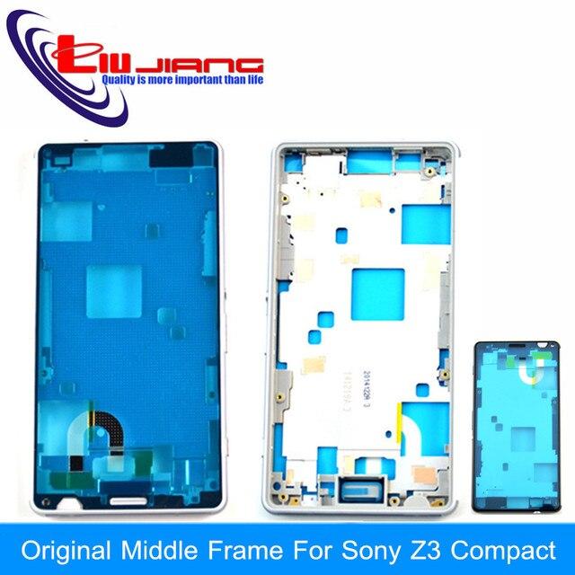 Первоначально Новая Для Sony Xperia Z3 Compact mini D5803 D5833 Ближний Шатона Рамки Случая крышки Снабжения Жилищем Бесплатная Доставка