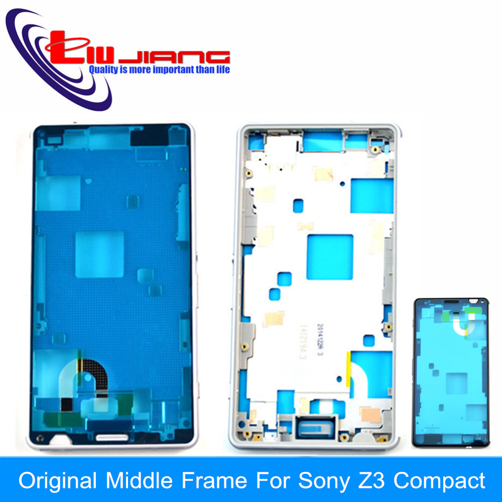Original New For Sony Xperia Z3 Compact mini D5803 D5833 Middle Frame Bezel Housing Cover Case
