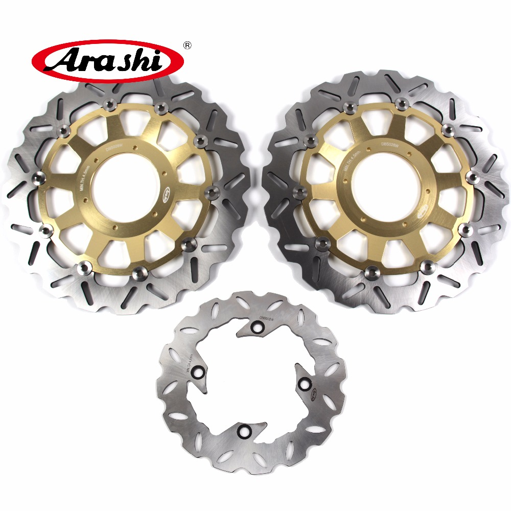 ARASHI Brake Disc For HONDA CBR1000RR 2006 2007 CBR 1000 RR Front Rear Brake disk Rotors CNC aluminum 1000RR Black motorcycle front and rear brake pads for ktm egs lse exc 400 all models 1998 2006 black brake disc pad