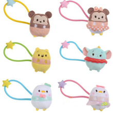 2017 TSUM  TSUM Mini Minnie Stitch Plush Doll Toys Cute Cartoon Plush Hair ring rope doll for kids girls gifts