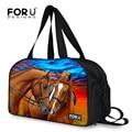 FORUDESIGNS Crazy Horse Вещевой Мешок для Мужчин и для Женщин, Большой Многофункциональный Дорожный Багаж, Сумки, Животных Печати Weekender Подростков Девушка сумки