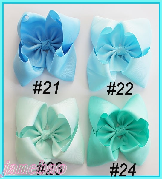 free shipping Newests 300pcs 8 big hair bows ABC hair bows Boutique hair bows Girl ABC