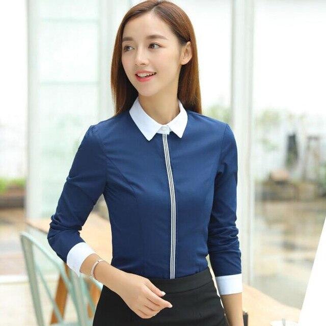 New Fashion Women Cotton Shirt Spring Formal Elegant Blouse Office Ladies Work Wear Plus Size Tops 9