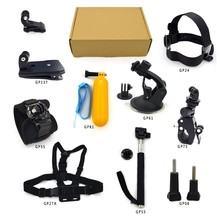 RB For Gopro kit accessories fo SJCAM Xiao Mi yi camera Head Strap+Chest Harness+Suction cup tripod+Clip Mount GP-K18