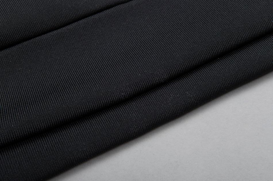 Moulante Nouvelles Noir Robe Ailigou D'été Femmes Gros Celebrity Bandage Party Robes Bretelles En Noire Sexy 2017 TvEwEqR