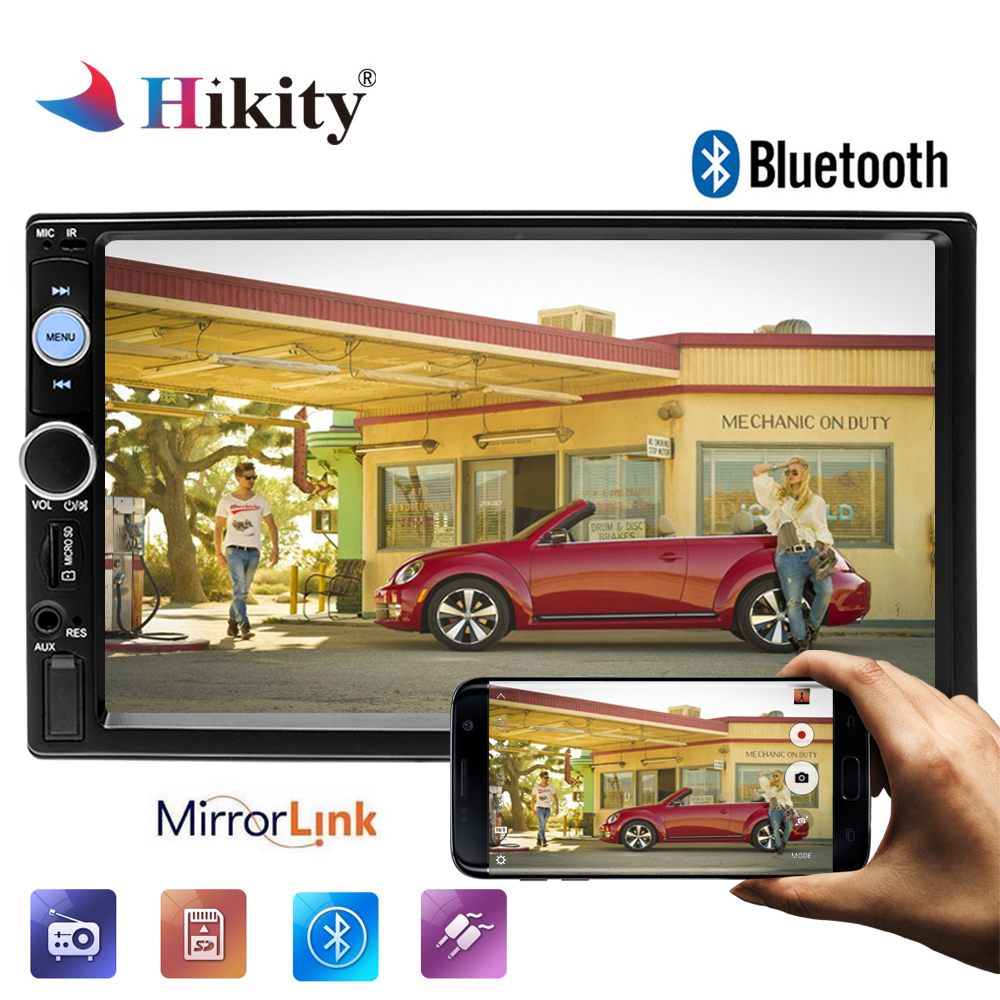 Hikity 2 din Car font b Radio b font 7 HD Media MP5 Player Bluetooth Auto