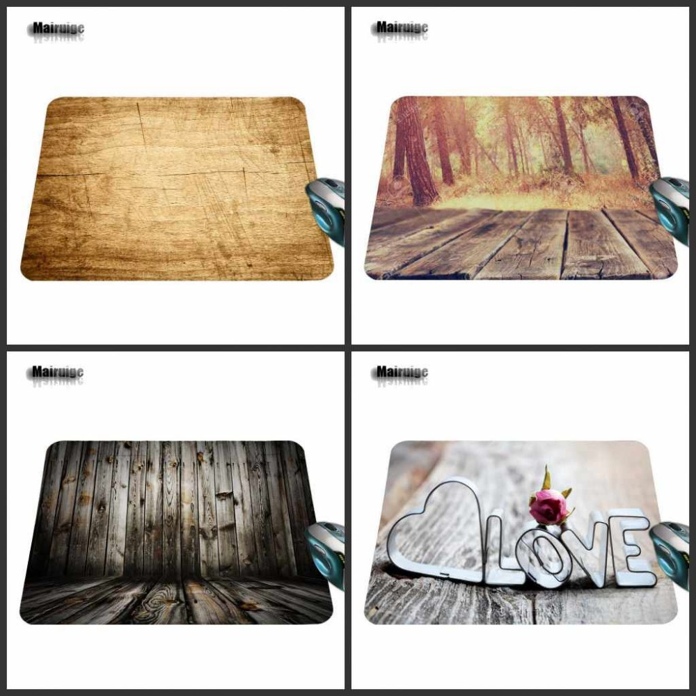 Wooden Floor Computer Mouse Pad Mousepads Radiation Decorate Your Desk Non-Skid Rubber Pad 220mmX180mmX2mm&250mmx290mmx2mm