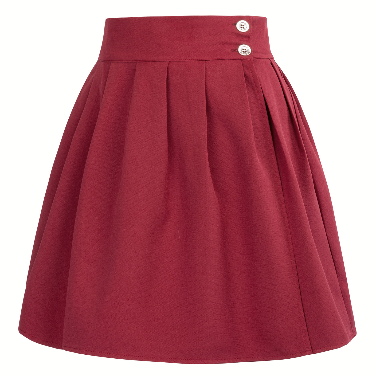 women skirt summer Retro 50s 60s vintage Women High Waist Skater Flared Pleated Swing mini Skirt plus size