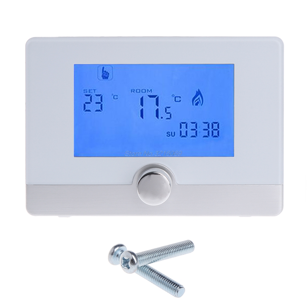 цена Programmable Digital Room Thermostat for Wall-hung Gas Boiler Heating System 5A