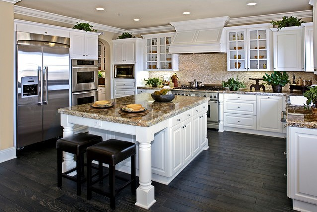 2017 Free Design Custom American Solid Wood Kitchen