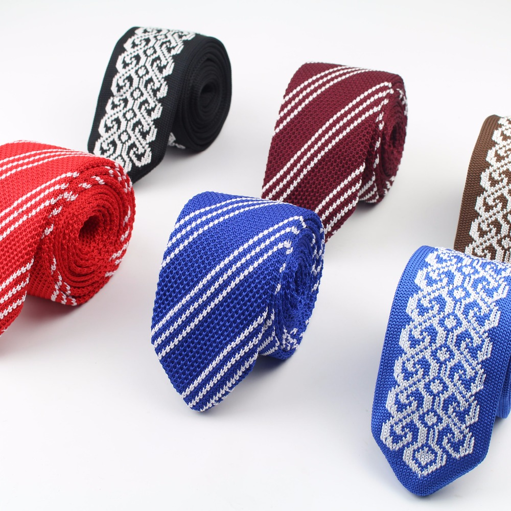 Men/'s Colourful Striped Tie Knit Knitted Tie Necktie Narrow Slim Skinny Woven