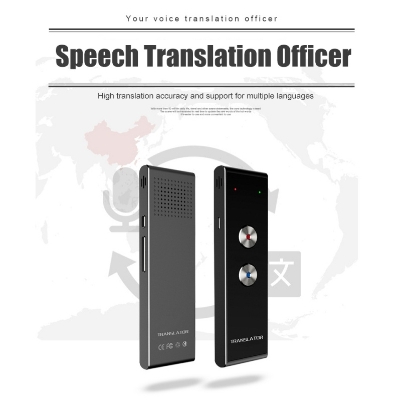 Portable Smart Speech Translator Two-Way Real Time 30 Multi-Language Translation For Learning Travelling Business Meeting image