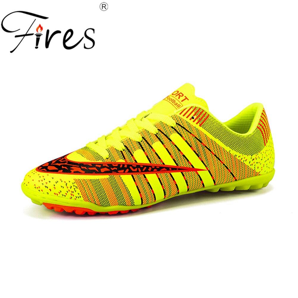 ecf14a0fc Incêndios do Homem Turf Soccer Shoes futsal Interior Plus Size 45 Superfly  Chuteiras Crianças Originais Sapatos de Futebol Tênis chaussure de pé em  Sapatos ...