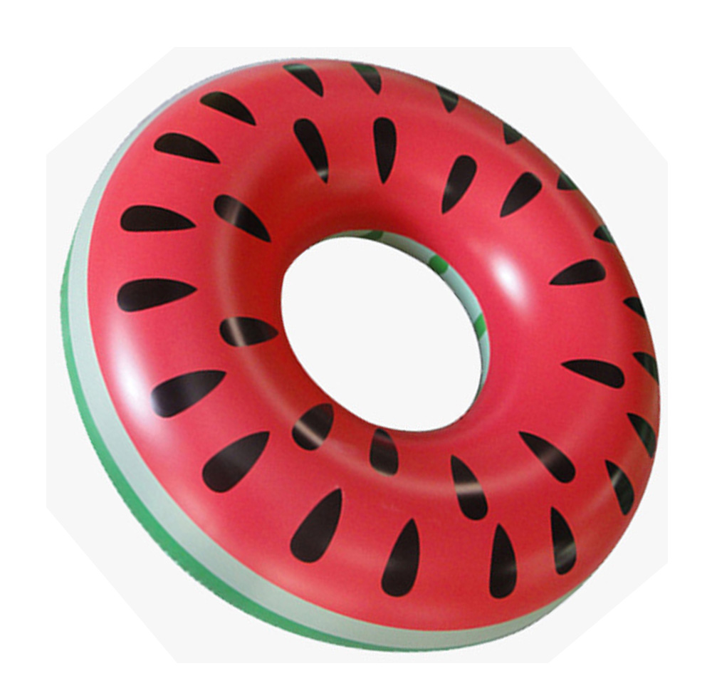 2018 New Beach or swimming pool swimming ring PVC inflatable watermelon swimming ring adult fruit water toys 120cm