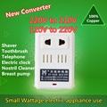Conversor de voltagem de 2 modo AC 100 W 110 V/120 V para 220 V/240 V Transformador EUA-UE Adaptador Conversor de energia Levou Escova De Dentes Eletrônico clo