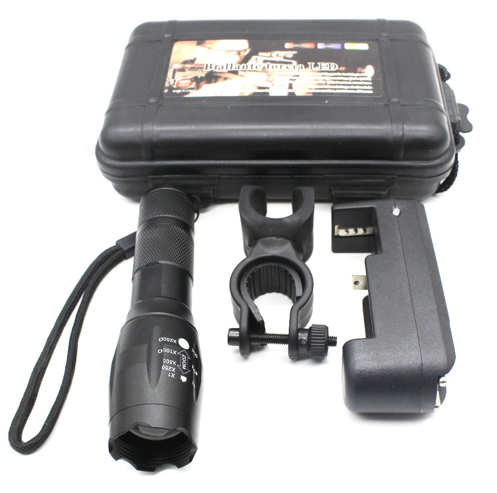 linternas led recargable 38000 lumenes G700 bicycle light tactical 5 mode torch powerful flashlight for 18650 or 3AAA battery