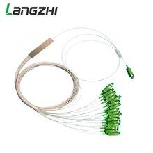 10 pieces SC APC Single mode Fiber Optical FTTH 0.9mm mini plc splitter 1x16
