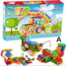 82 шт. электрические магические шестерни творческие строительные блоки 3D DIY Пластиковые забавные мозаики детские игрушки хобби детские развивающие игрушки