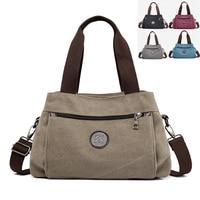 Fashion Casual Tote Bag Solid Handbags Women Messenger Bags Ladies canvas Shoulder CrossBody Bags Bolsos Mujer Mummy Bags