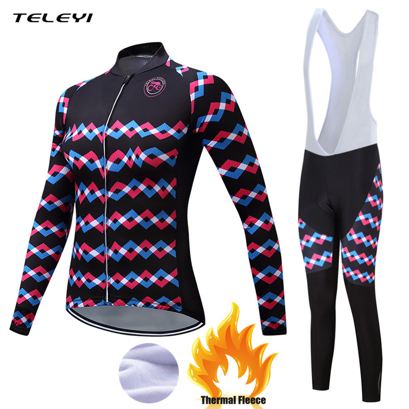 Teleyi 2017 New Winter Thermal Fleece Cycling Clothing Set Maillot Ropa Ciclismo Women MTB Bicycle Jerseys Bike Sportswear Sets new team teleyi cycling jerseys 2017 short sleeves summer breathable cycling clothing pro mtb bike jerseys ropa ciclismo