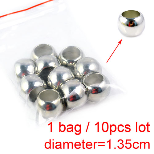 10 pcs / lot with 1.35cm acrylic jewelry Beads DIY Making Jewelry Scarf Slide Beads Findings & components Accessories ,PT-359