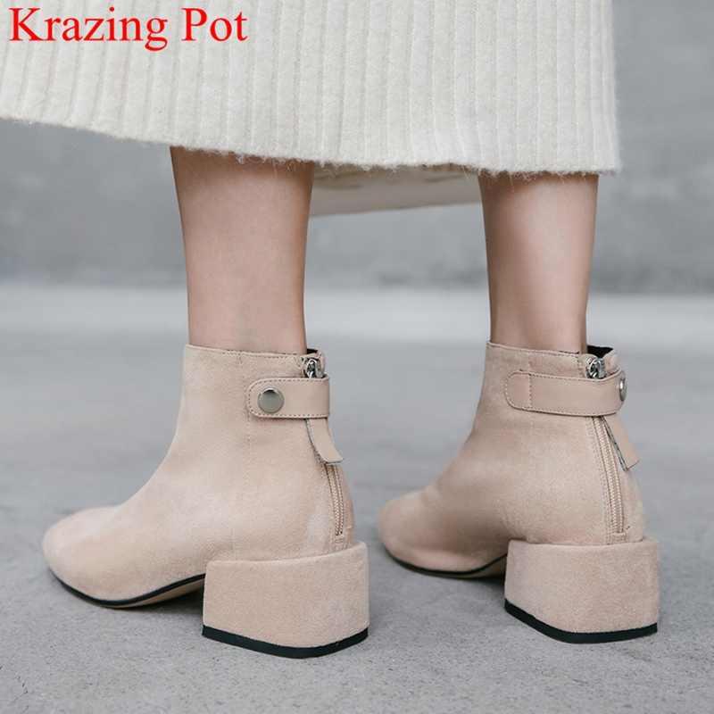 Zapatos Botas Botas al tobillo Tacón ancho Cuero en 2020