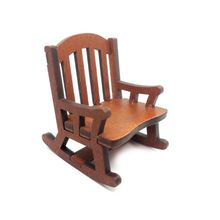New 1:12 Dolls House Miniature Furniture Wooden Rocking Chair for Dolls Kids Girls Role Dollhouse Decoration Play Toys Gift