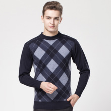 High Qualit Winter Sweater Men Knitwear Pullover Slim O-Neck Brand Men's Clothing Sweaters Striped Thin Male Swearter Pull Plus