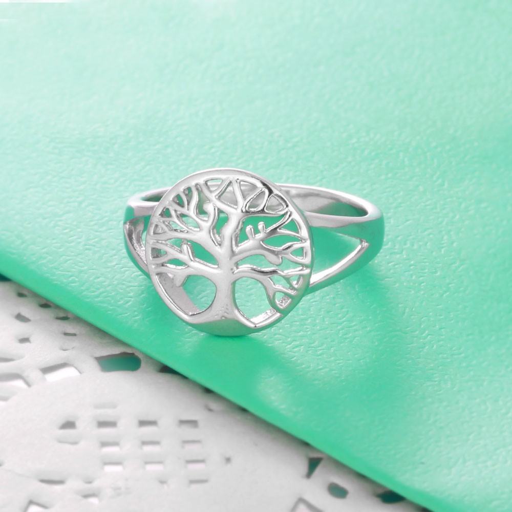 خاتم فضة شجرة الحياة الكلاسيكية 6