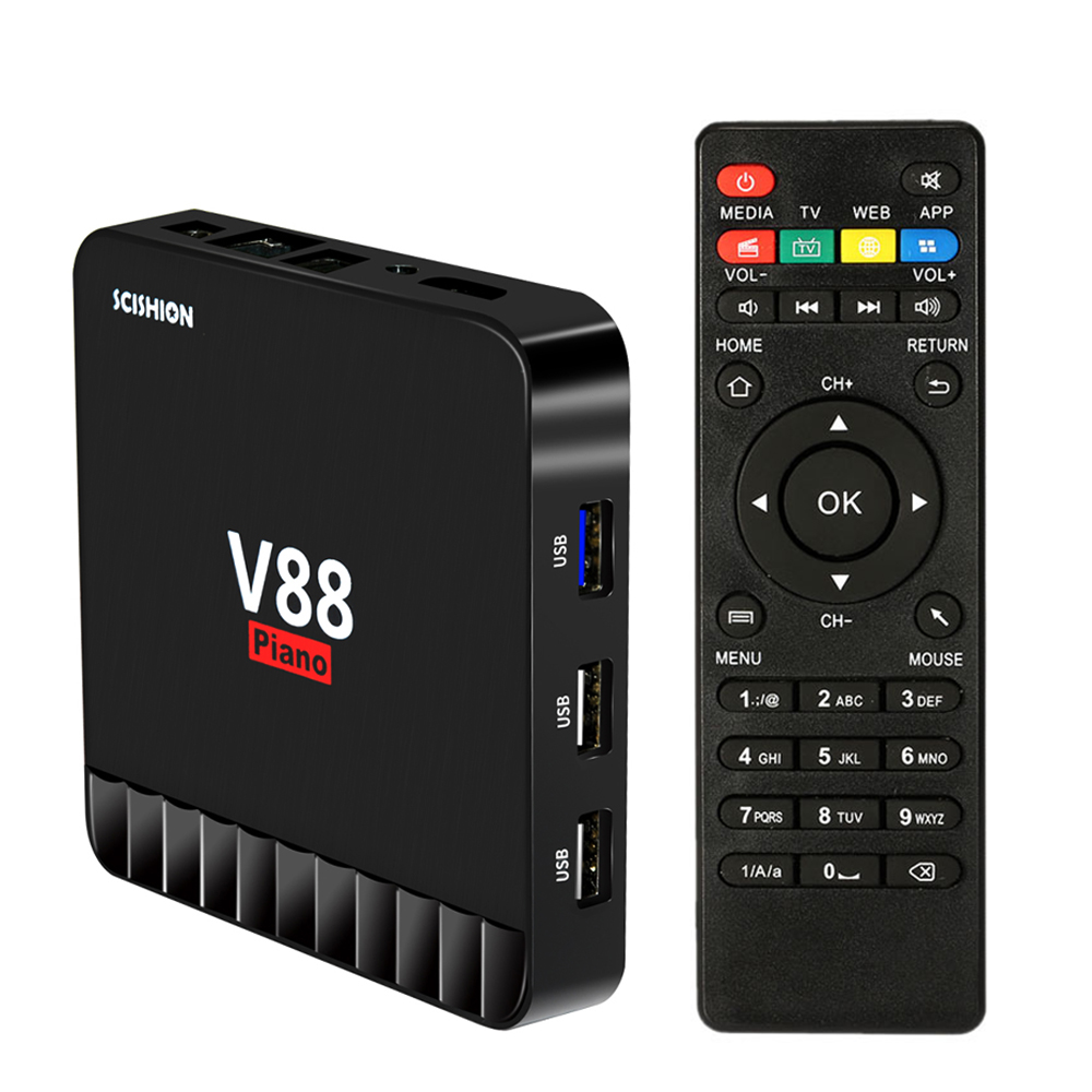 SCISHION V88 Piano Android 7.1 with Europe Albania French Germany Portugal IPTV EX YU XXX 7000+VOD set top box