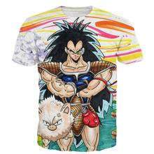 Harajuku tee Classic Anime Dragon Ball Z Super Saiyan t shirts Cool Vegeta Prints tshirts Men Women Hipster 3d t shirt top NJ140