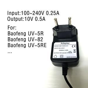 Image 5 - Зарядное устройство Baofeng, 100% оригинальные портативные аккумуляторы для рации UV 5R, настольное зарядное устройство для рации с вилкой европейского стандарта