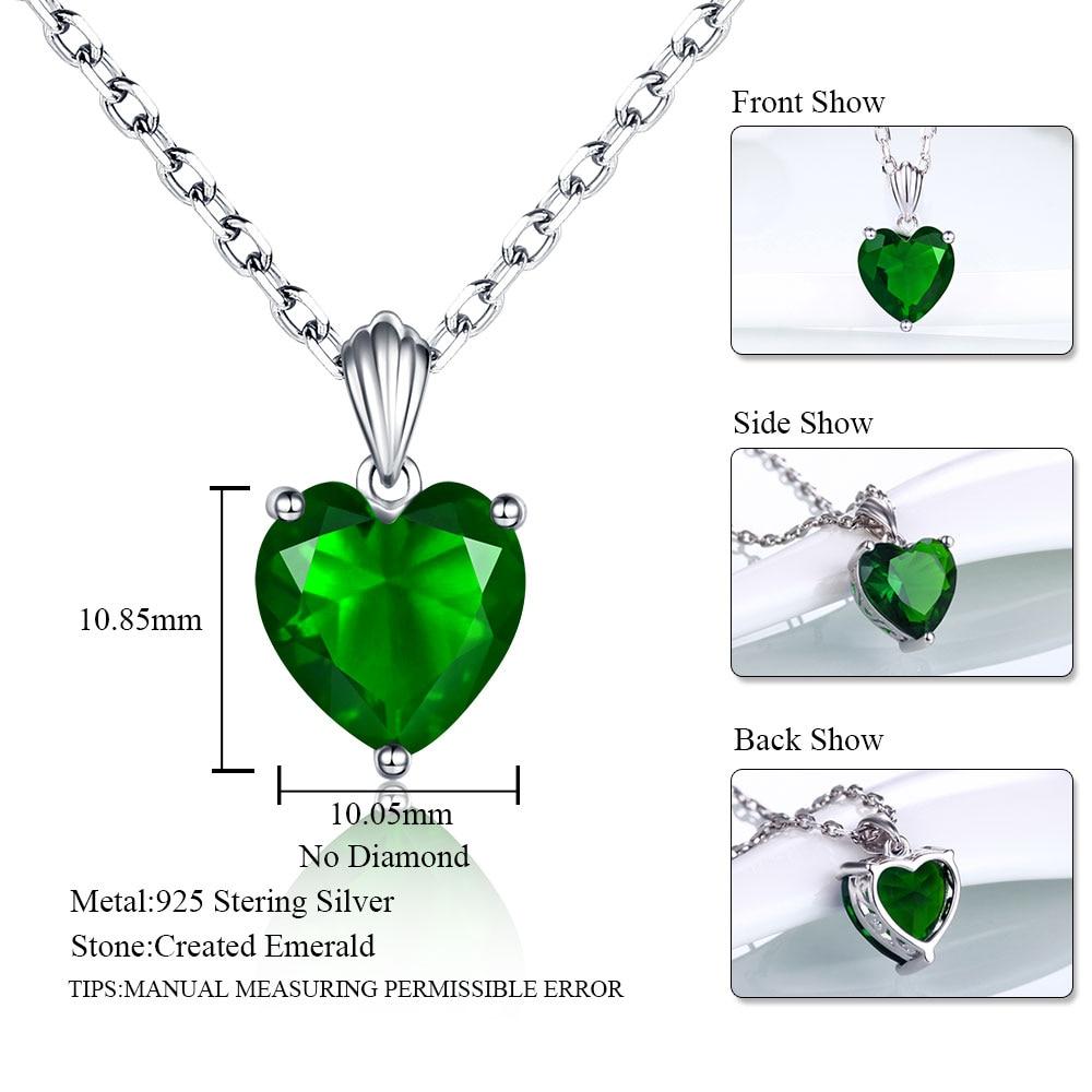 Dvojno-R 925 Sterling Silver Emerald Ogrlica Sapphire Privjesak Ruby - Fine nakit - Foto 4