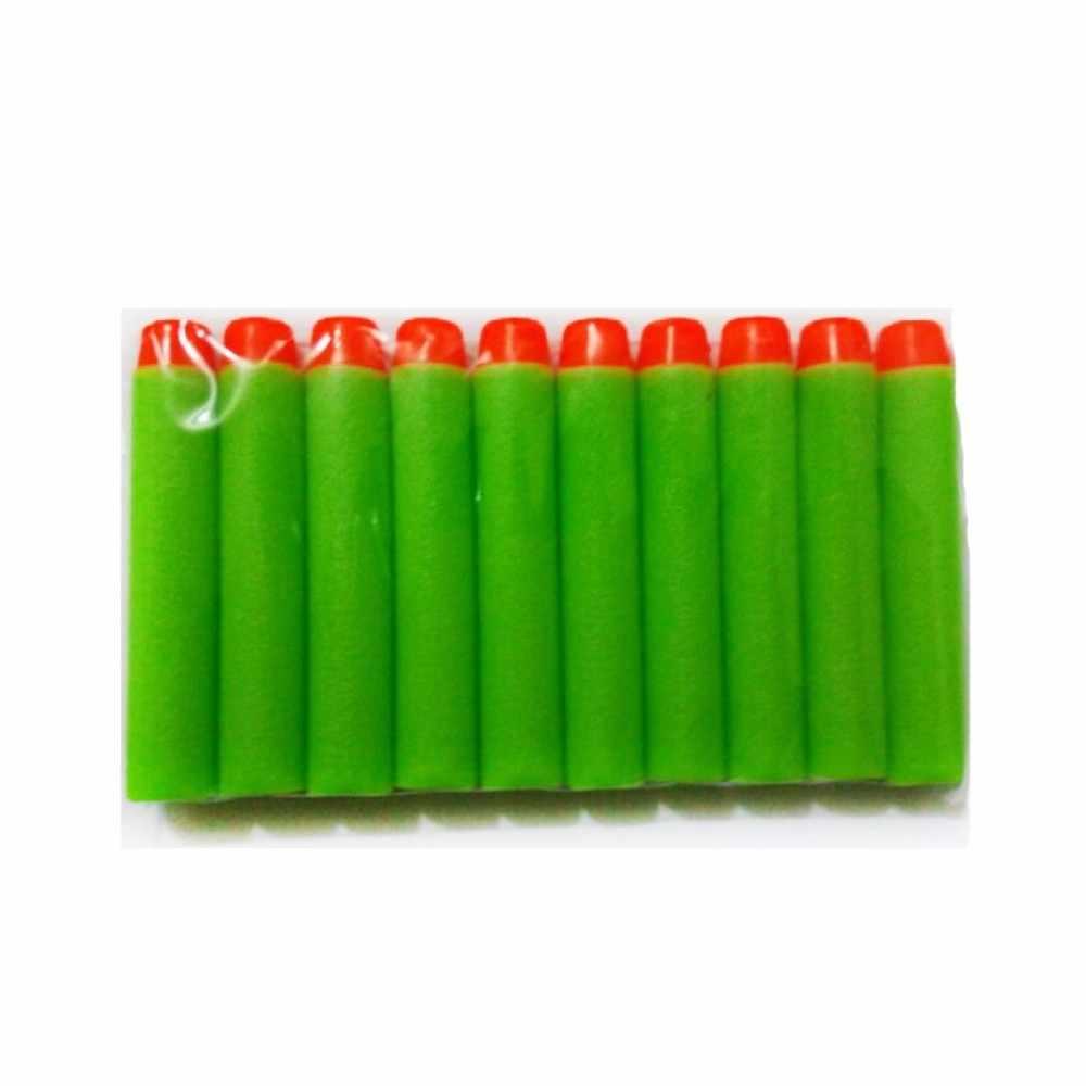 Zachte Nerf Kogels 100/50 pcs Hollow Gat Hoofd 7.2 cm Refill Darts Speelgoed Pistool Kogels voor Nerf Serie blasters Xmas Kid Kinderen Gift