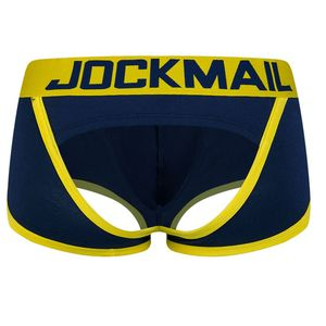 JOCKMAIL Sexy Men Underwear BOTTOMLESS BOXER men G-strings tanga Short underpants Gay Male Underwear Open Backless crotch(China)