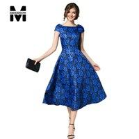 Merderheow New 2017 Summer Women S Temperament Retro Print Dress Femme Casual Clothing Fashion Women Sexy