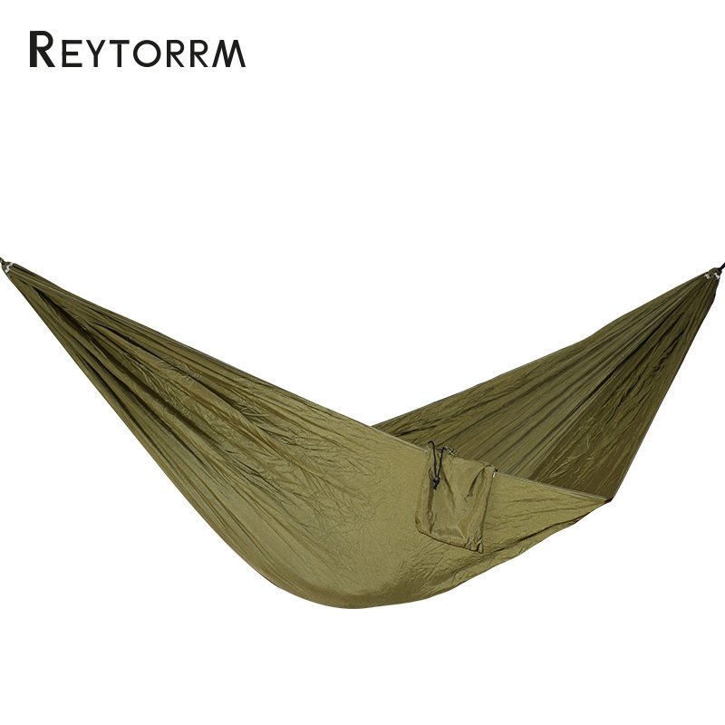 Hiking Camping 270*140cm Hammock Portable Nylon Safety Parachute Hamac Hanging Chair Swing Outdoor Double Person Leisure Hamak 20 color 2 people portable parachute hammock camping survival garden hiking hunting leisure hamac travel outdoor hamak