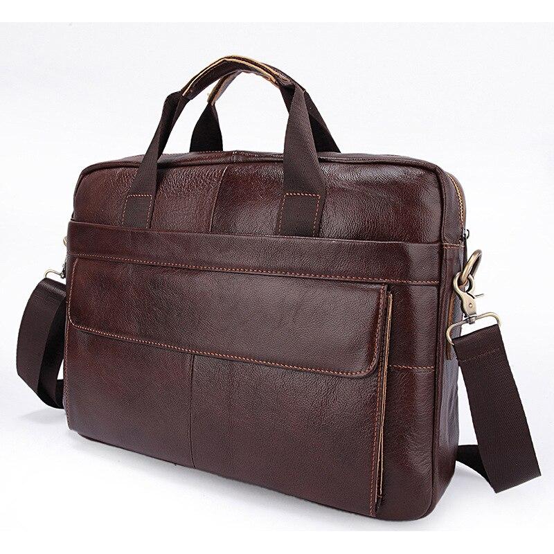 Genuine Leather genuine leather laptop bag Handbags Cowhide Men Crossbody Bag Men